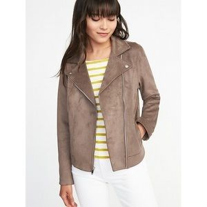 NWT Old Navy Sueded Moto Jacket